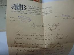 """Busta Viaggiata Da Saluzzo A Bagnolo Con Lettera Commerciale """"FIUME SOCIETA' ANONIMA DI ASSICURAZIONI"""" 1944 - Marcophilia"""