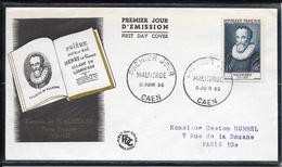FDC 1955 - 1028   Célébrités Du XIIèmè Au XXèmè S.: François De Malherbe, Poète - 1950-1959