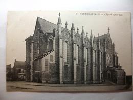 Carte Postale Herbignac (44) L'Eglise Coté Sud ( Petit Format Noir Et Blanc Non Circulée ) - Herbignac