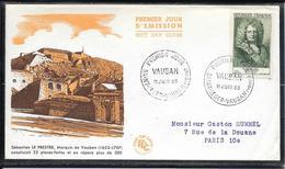 FDC 1955 - 1029 Célébrités Du XIIème Au XXème S.: Sébastien Le Prestre De Vauban - 1950-1959