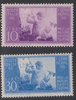 Italy Republic S 578-579 1949 New Constitution, Mint Hinged - 1946-60: Mint/hinged