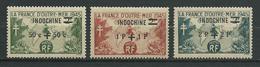 INDOCHINE 1945 . Poste Aérienne N°s 296 , 297 Et 298 . Neufs ** (MNH) - Indochina (1889-1945)