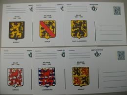 Carte Postale Blasons Provinces Belgique - Lot De 9 - Collections