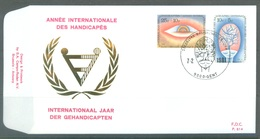 BELGIUM - 7.2.1981 - FDC - HANDICAPES GEHANDICAPTEN - RODAN 614 - GENT - COB 1999-2000 - Lot 19612 - FDC