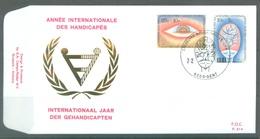 BELGIUM - 7.2.1981 - FDC - HANDICAPES GEHANDICAPTEN - RODAN 614 - GENT - COB 1999-2000 - Lot 19612 - 1981-90