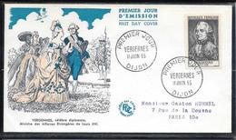 FDC 1955 - 1030 Célébrités Du XIIème Au XXème S.: Charles Gravier, Comte De Vergennes - FDC