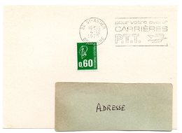 DORDOGNE - Dépt N° 24 = St ASTIER 1975 =  FLAMME à DROITE =  SECAP ' CARRIERES PTT / Pour Votre Avenir ' - Marcophilie (Lettres)