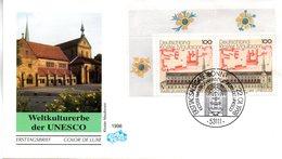 "BRD Schmuck-FDC ""Kloster Maulbronn"", Mi. 2x 1966 ESSt 22.1.1998 BONN - FDC: Briefe"