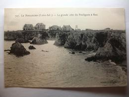 Carte Postale Le Pouliguen (44) La Grande Cote Du Pouliguen à Batz  (Petit Format Noir Et Blanc Non Circulée ) - Le Pouliguen