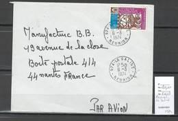 Reunion - Lettre  De LA SALINE - 1974 - Covers & Documents