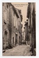 - CPA SAINT-ANTONIN-NOBLE-VAL (82) - La Rue Droite (avec Personnages) - Edition E. Fauré 113 - - Saint Antonin Noble Val
