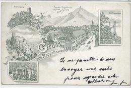 68 RAPPOLLSWEILER  . Grüss En 4 Clichés Dont Hôtel Zur Stadt , Joseph Krumb  , édit :  , écrite En 1897 , état Extra - Ribeauvillé