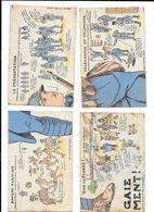 11171 - Lot De 4 CPA Thème Militaria, Cartes Formant Un PUZZLE - Patriotiques