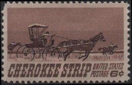 ETATS-UNIS USA  863 ** MNH Ouverture Du Territoire Cherokee Aux Colons Pionniers Calèche - United States