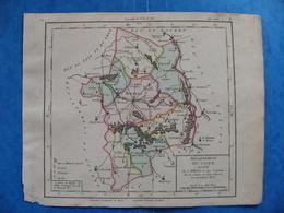 Révolution Française Carte Cher 1793 Bourges Sancoins Sancerre Vierzon Charot Saint Amand Monrond Villequiers Mehun - Geographical Maps