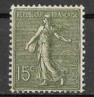France - 1903 - Type Semeuse Lignée 15 C. Vert-gris - Y&T N°130a (II) ** Neuf Gomme D'origine - Voir (2 Scans). - Ungebraucht