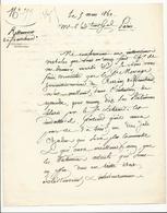 Courrier De Réclamation De 1860 à Propos Du Restaurant De Franchard - Documents Historiques