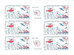 Feuillet De Vignettes De L'Exposition De Philatélie Polaire - Toulouse - 22-23 Octobre 1977 - Events & Commemorations