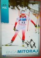 Kinga Mitoraju  Zbylut   Polish Olympian - Autographes