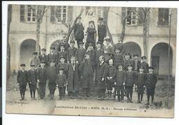 Rieux , Institution St Cizi,groupe D'internes - France