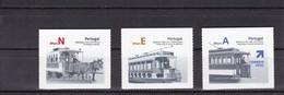 Portugal 2007. Série Autocollant Tram Attelage A Cheval 2007 ** Tramway Horse Coach Sticker Stamps** - Strassenbahnen