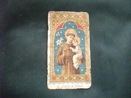 SANTINO HOLY PICTURE IMAGE SAINTE ORAZIONE A SANT'ANTONIO DA PADOVA IMPRIMATUR 14 APRILE 1906 - Religione & Esoterismo