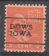USA Precancel Vorausentwertung Preo, Locals Iowa, Dows 701 - Vereinigte Staaten