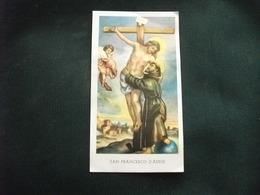 SANTINO HOLY PICTURE IMAGE SAINTE SAN FRANCESCO D'ASSISI PREGHIERA - Religione & Esoterismo