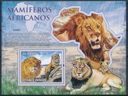 D - [401686]TB//**/Mnh-Sao Tomé-et-Principe 2009 - Mammifères Africain, Lions - Roofkatten