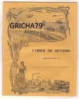 CAHIER DE DEVOIRS  ANCIEN - Agriculture