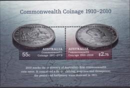"Australia 2010 ""Commonwelath Coinage"" M/S Used - Used Stamps"