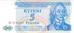 5 Rubel  Transnistrischen Moldauische Republik, UNC - Sonstige – Europa