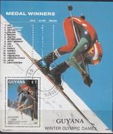 1988 CALGARY - Guyana - MiNr:  Block 25  Used - Winter 1988: Calgary