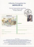 """Allemagne Deutschland Germany 1981: ETB NAPOSTA'81 Mit Postkarte """"Albertus Magnus"""" STUTTGART 28.4.1981 EUROPATAG (11993) - Theologen"""