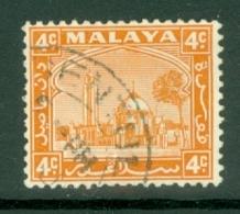 Malaya - Selangor: 1935/41   Mosque   SG72    4c     Used - Selangor