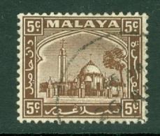 Malaya - Selangor: 1935/41   Mosque   SG73    5c     Used - Selangor