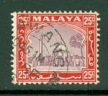 Malaya - Selangor: 1935/41   Mosque   SG79    25c     Used - Selangor