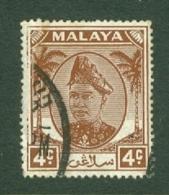 Malaya - Selangor: 1949/55   Sultan Hisamud-din Alam Shah   SG93    4c    Used - Selangor