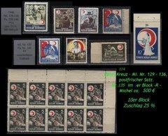 Türkei Rotes Kreuz -  Mi. Nr. 129 - 36 - Nr. 135 Im 10er Block -RR- - 1921-... Republik