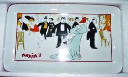 VIDE POCHE PLAT EN Faïence MAXIM'S PARIS COMME NEUF Dans Son Écrin D'origine - Céramiques
