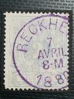 COB N ° 27 Oblitération Reckheim 1880 - 1869-1883 Léopold II