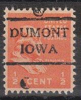 USA Precancel Vorausentwertung Preo, Locals Iowa, Dumont 716 - Vereinigte Staaten