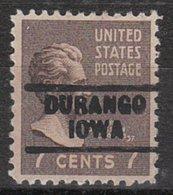 USA Precancel Vorausentwertung Preo, Locals Iowa, Durango 729 - Vereinigte Staaten