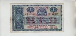 AB413. The British Linen Bank £1 Banknote 10th December 1957 #F/3 448765 FREE UK P+P - [ 3] Scotland