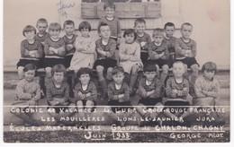 71  Saône Et Loire - Ecoles Maternelles  Groupe CHALON-sur-SAÔNE - CHAGNY - Colonie Croix-Rouge Lons Jura - 1933 - Ecoles