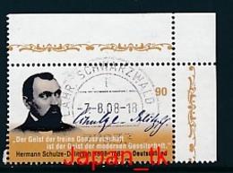 GERMANY Mi. Nr. 2684 200. Geburtstag Von Hermann Schulze-Delitzsch - Eckrand Oben Rechts -used - [7] République Fédérale
