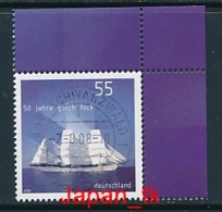 GERMANY Mi. Nr. 2686 50 Jahre Segelschulschiff -Gorch Fock - Eckrand Oben Rechts -used - [7] République Fédérale