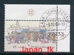 GERMANY Mi. Nr. 2696 Brauchtum Und Tradition  - Eckrand Oben Rechts -used - [7] République Fédérale