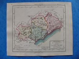 Révolution Française Carte Hérault 1793 Montpellier Béziers Sete Agde Lunel - Geographical Maps