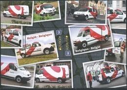 Blok 205** Postvoertuigen Van Tegenwoordig Met 4312/13** Voitures Pour B-post - Bestelwagens - Blocs 1962-....